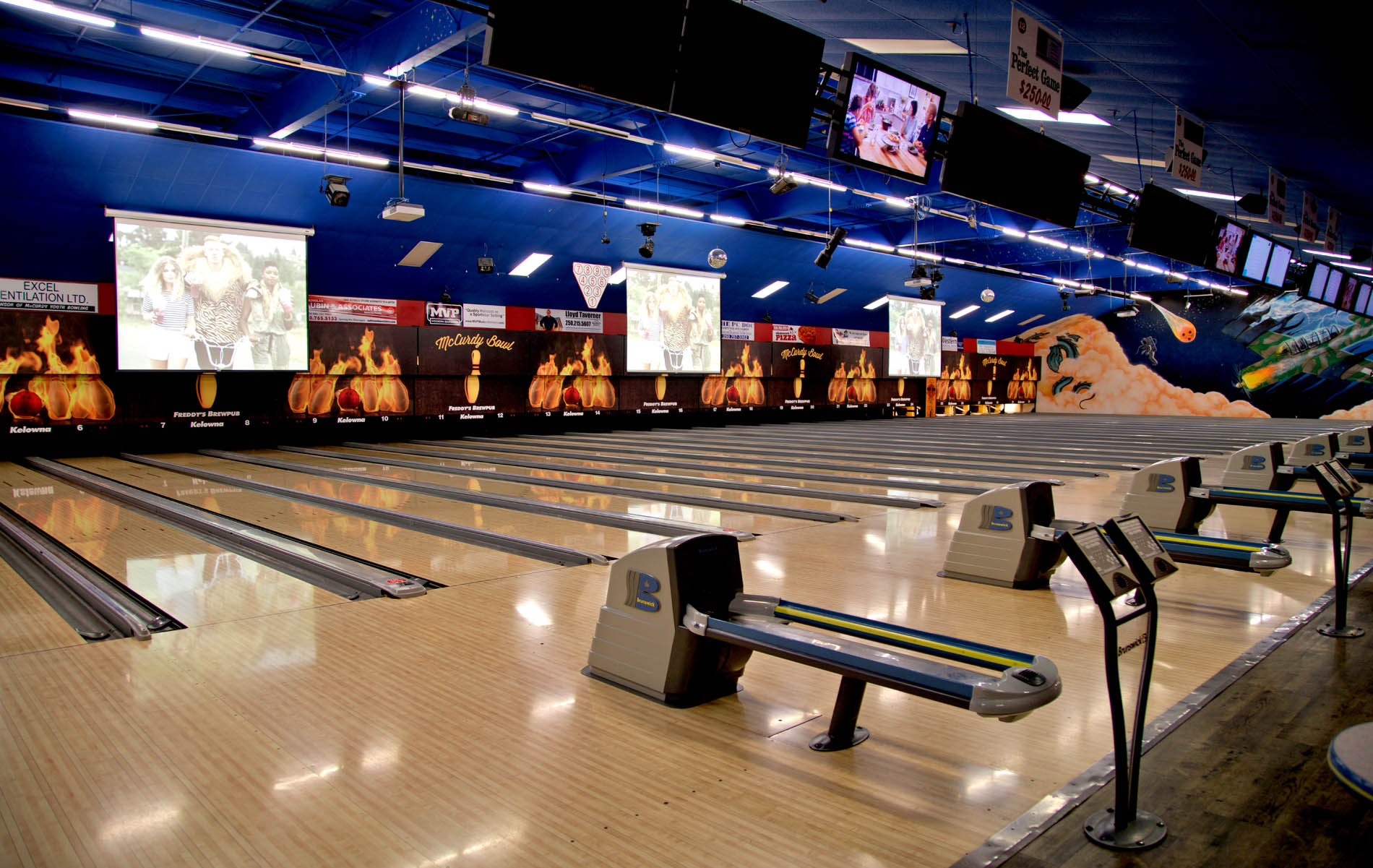New Projectors Up The Cool Factor for Cosmic Bowling